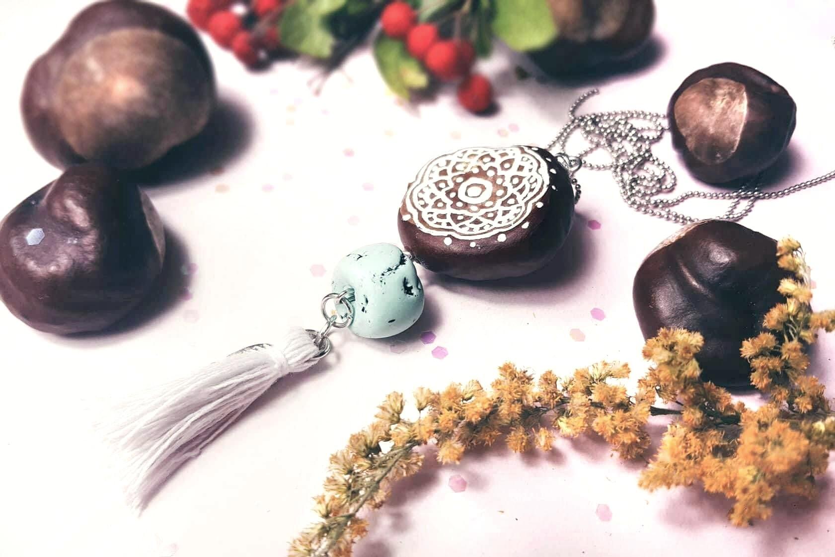 Diy Herbstliche Halskette Aus Kastanien Basteln