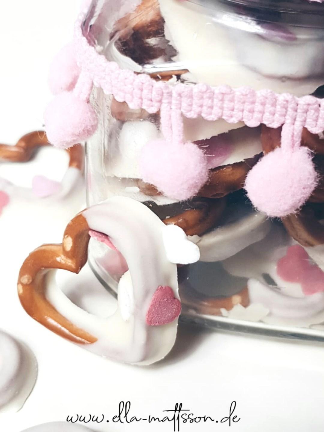 Valentinstag Brezel diy basteln snack rezept geschenkidee selbermache