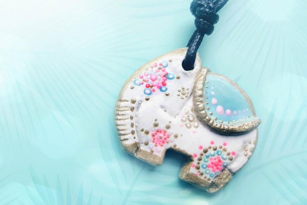 elefanten kette elefant modelliermasse schmuck jewlery selbermachen diy basteln