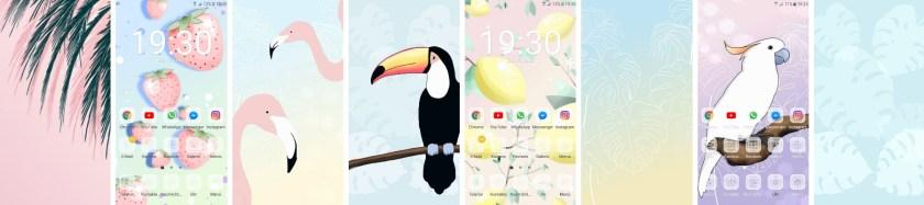 free gratis wallpaper früchte flamingo kakadu tukan smartphone handy kostenlos