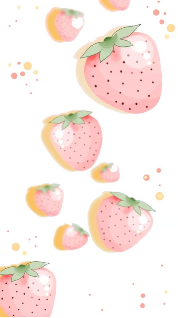 free wallpaper hintergrund handy smartphone frucht zitrone kirsche erdbeere