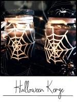 halloween kerze diy basteln bastelidee gruselig