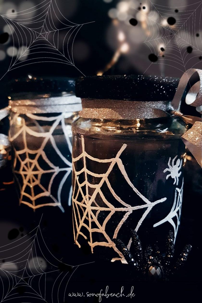 halloween kerze diy bateln selbermachen bastelidee diy