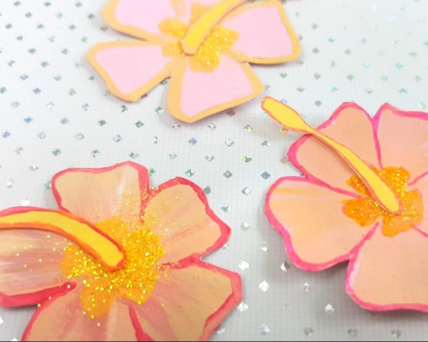 hawaii gläser partydeko diy papier basteln deko