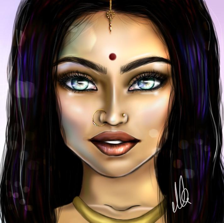 Indian Beauty Illustration girl