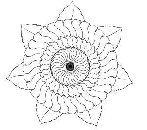 Mandala Ausmalbild
