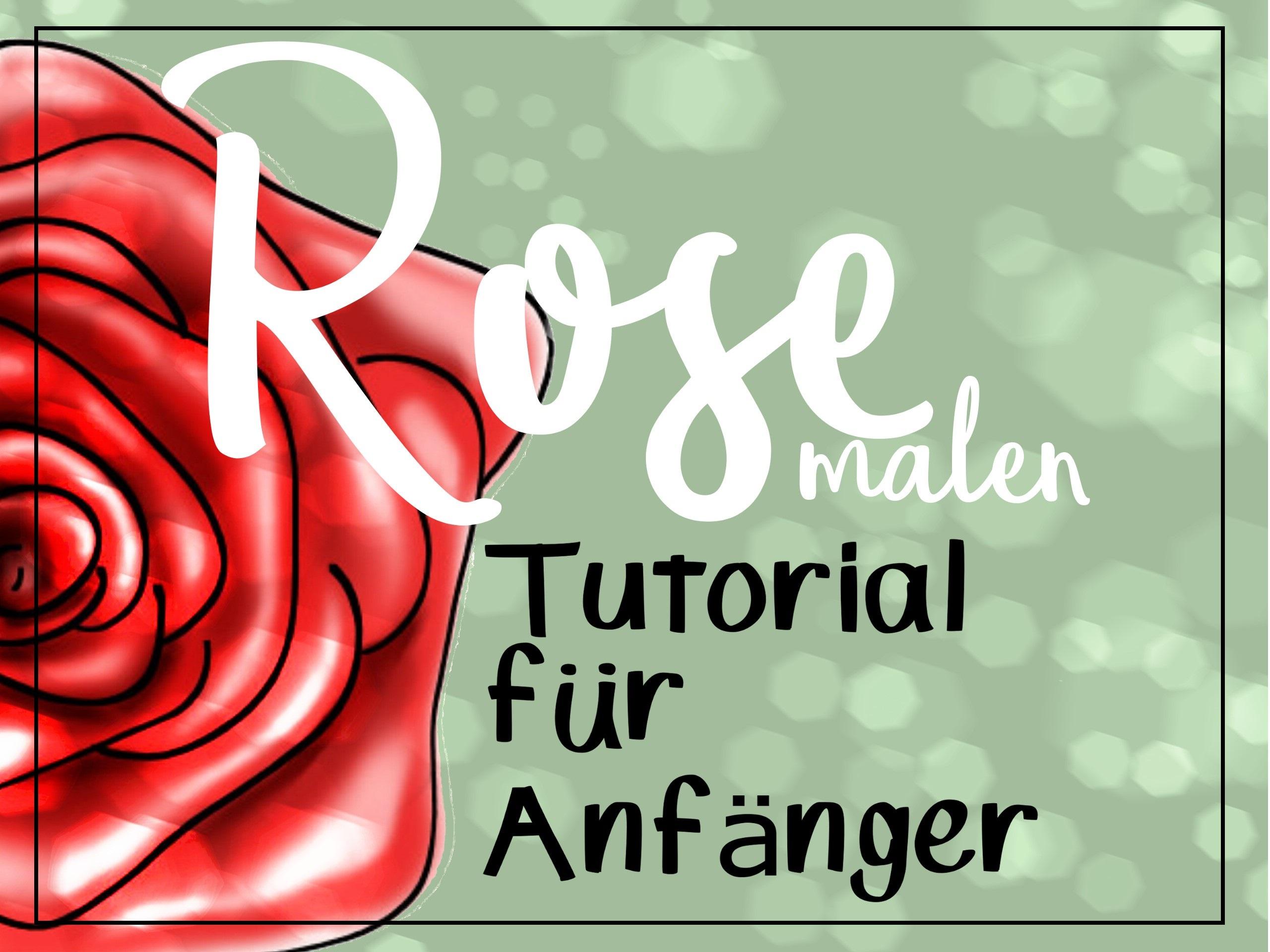 Rose Malen Für Anfänger Einfaches Tutorial Malen Lernen