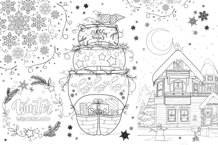 winter weihnachten ausmalbilder titelbild