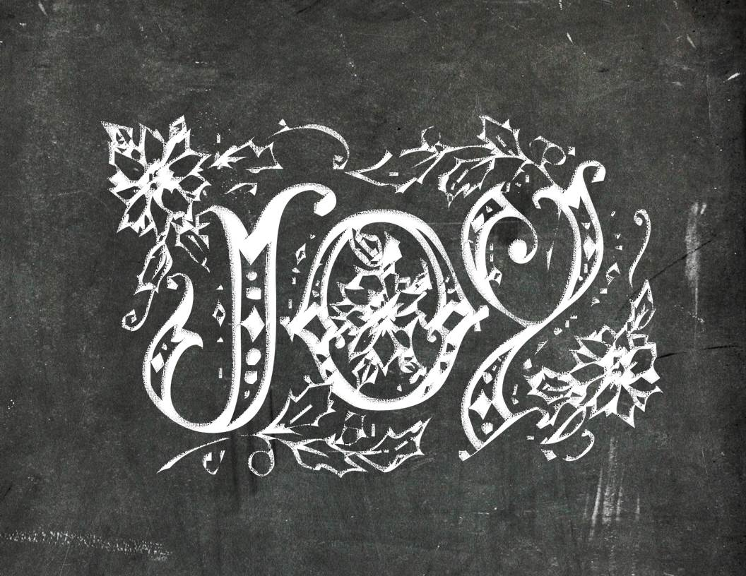 Joy Peace Noel Free Chalkboard Printables