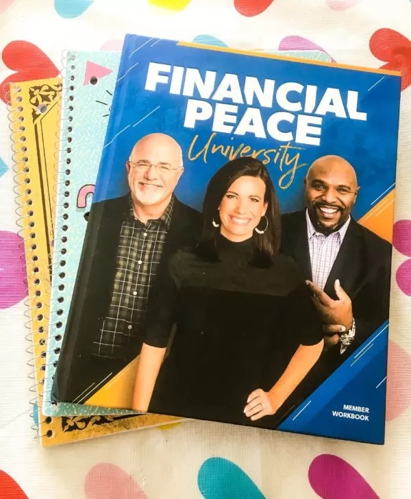 E. L. Lane's Financial Peace University Book and Notebooks
