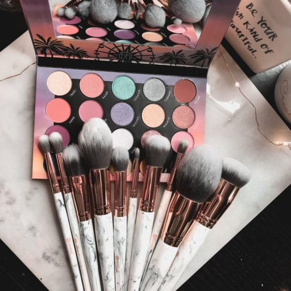 The perfect marble makeup brush set you need from BH Cosmetics.
