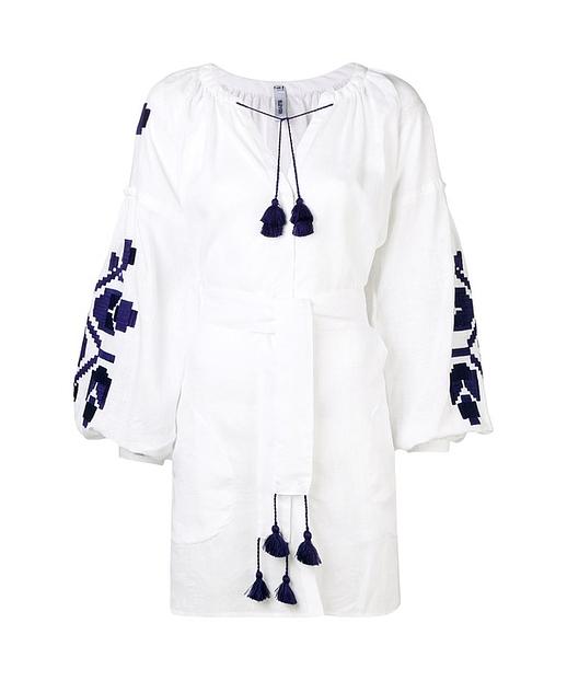 Tunika Kleid Mit Folklore Druck Und Knopfen Aktuelle Trends