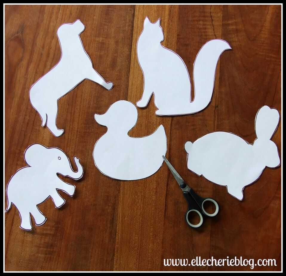 How To Make Shadow Animal Wall Stickers Elle Cherie