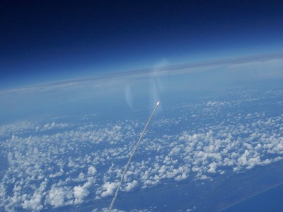 Shuttle launch from above