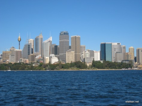 Sydney skyline from the harbour