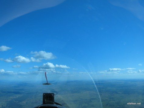 Over Bingara, clouds are thinning out
