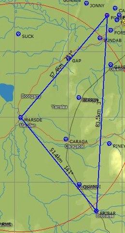Task 8, 184km triangle