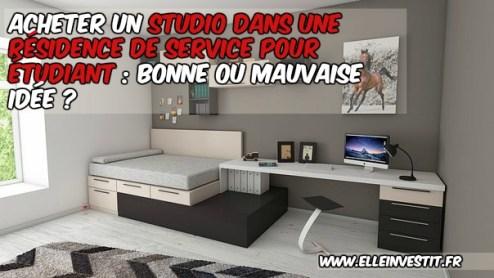 achat studio residence etudiant
