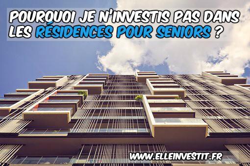 investissement residence seniors