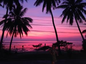 Sunset on Koh Phangan by Ellen Bard