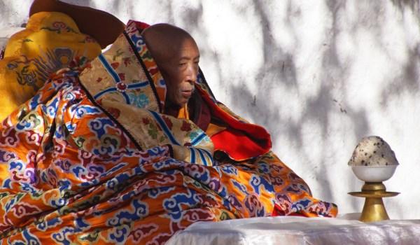 Special ceremony at Sera Monastery, Lhasa: Shampa Thudan Rinpoche (Champa Thupten Rinpoche)