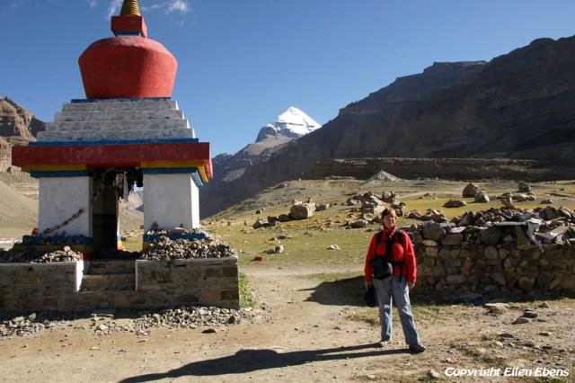 At the Kangnyi Chörten during the kora around Mount Kailash in 2010