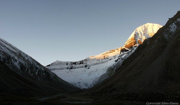 Day 2 of the kora: sunrise on Mount Kailash (2010)