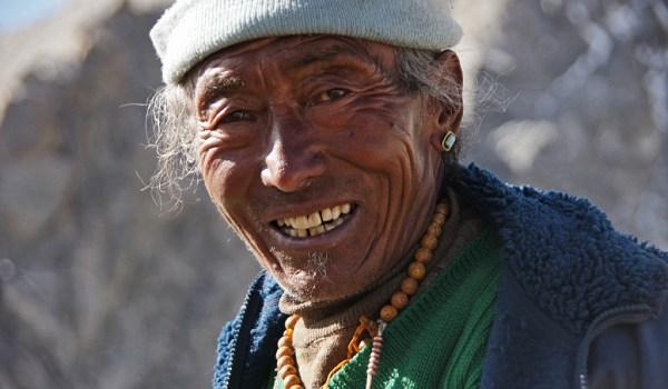 Day 2 of the kora: portrait of a pilgrim on Drolma La pass (5.660m) (2011)