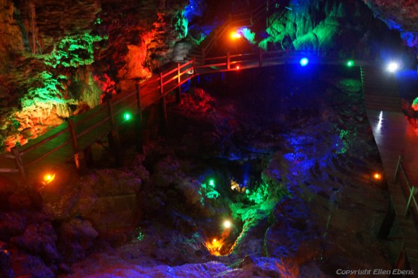 Huanglong National Park: karst cave below the Ancient Temple