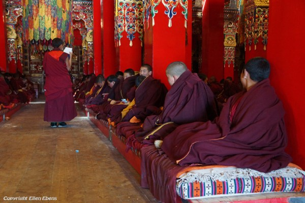 Monks at Dagzha Monastery at Zoige