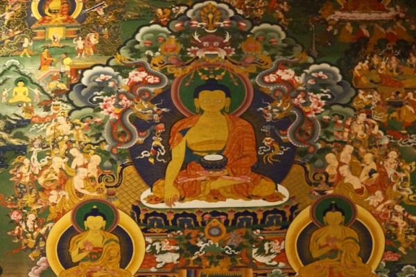 Wall painting at Dagzha Monastery at Zoige