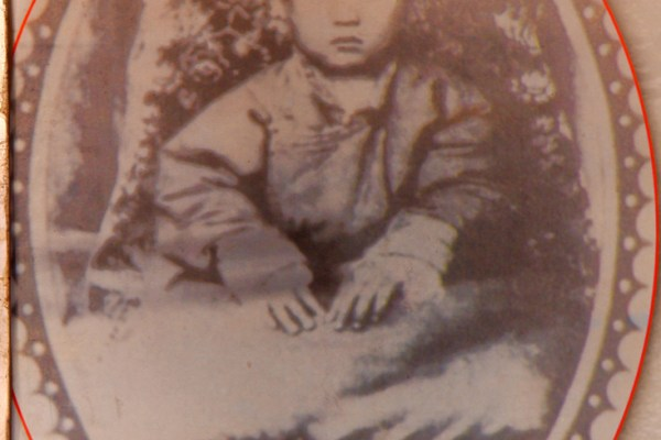 Picture of the 10th Panchen Lama at his birth house in the little village of Mari