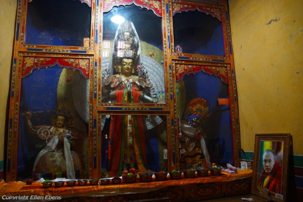 Statue of Avalokiteshvara with thousand arms and eyes inside Thandruk Monastery