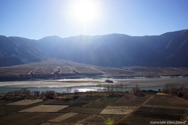 View from Kamadang Temple on the Yarlung Tsangpo valley