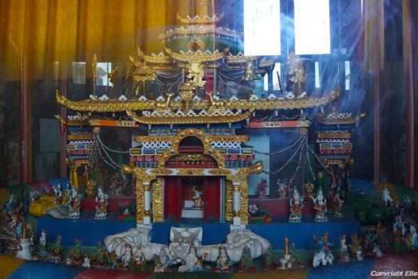 Three dimensional mandala at the assembly hall of Chimpuk Hermitage