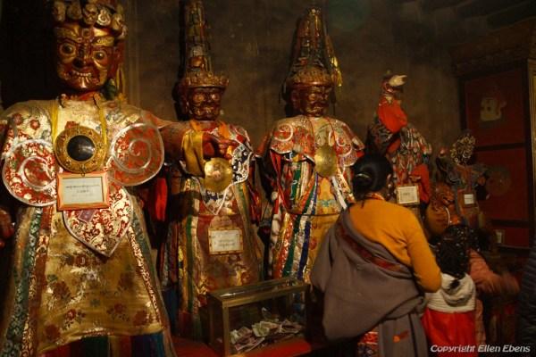 Inside a chapel of Samye Monastery