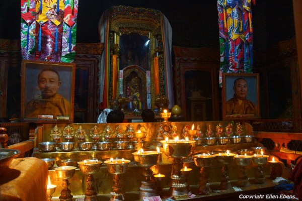 Pictures of the 13th Dalai Lama and the 10th Panchen Lama at Shalu Monastery