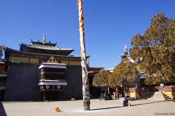 Shalu Monastery is located some 20 km south of the city of Shigatse