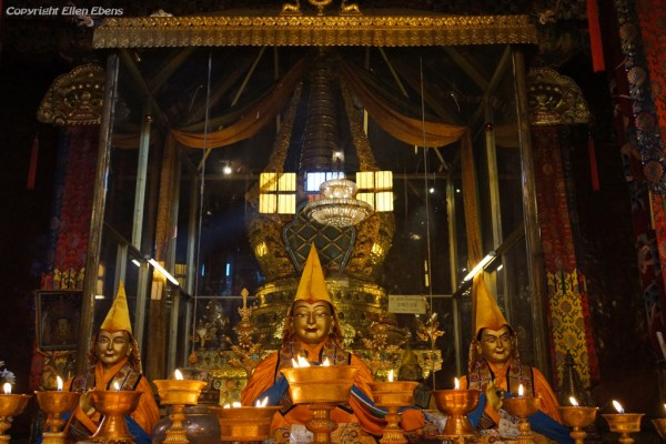 The funeral stupa of master Tsongkhapa at Ganden Monastery
