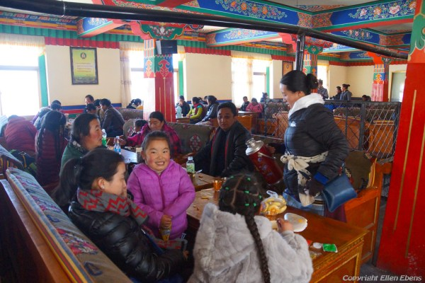 The new monastery restaurant at Ganden Monastery
