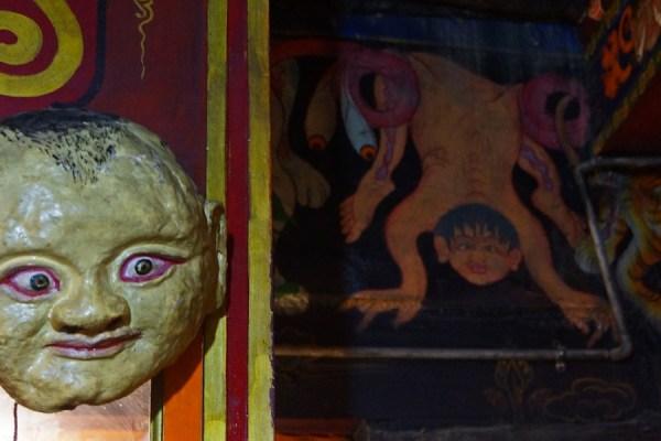 Mask at Tsurphu Monastery