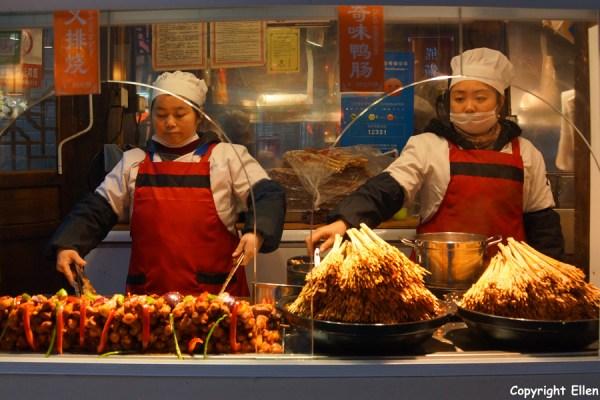 Selling food at Jinli Street, Chendu