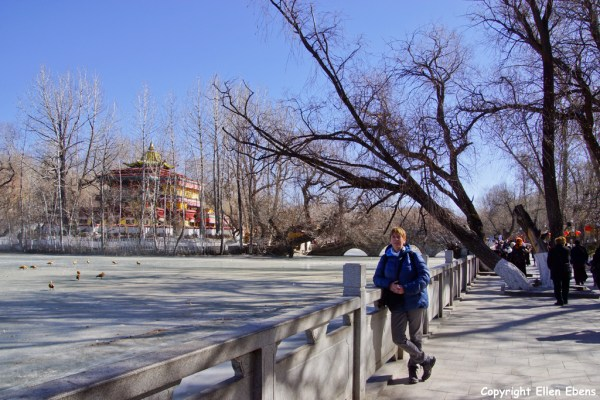 Me behind the Potala Palace, Lhasa