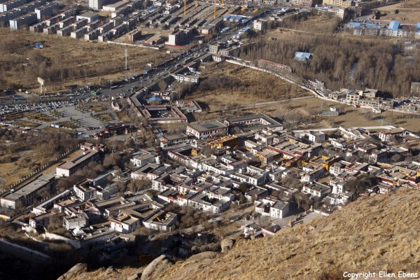 Sera Monastery seen from above, Lhasa