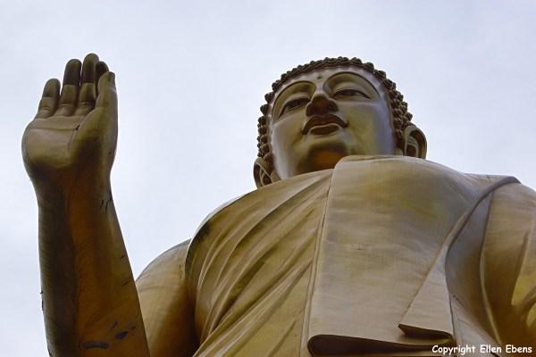 The big Buddha statue at the Meng Le Temple near Jinghong