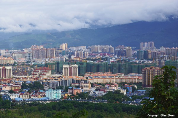 View on Jinghong from the Meng Le Temple