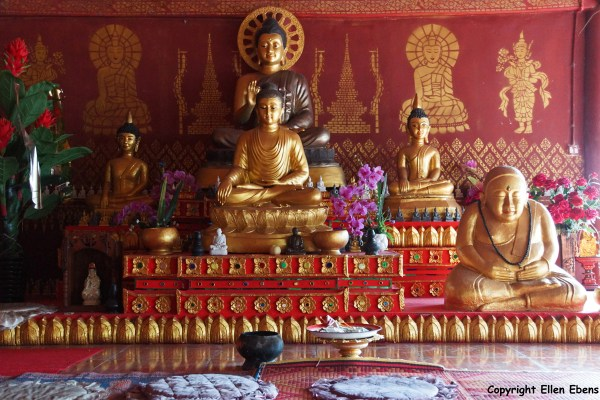 Statues at the White Bamboo Shoot Pagoda complex near the border with Myanmar