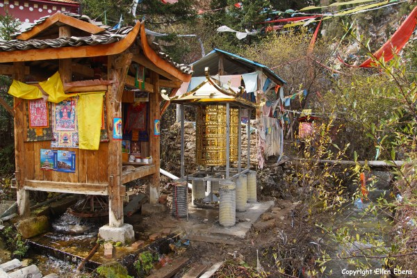 Sacred place in a small valley, Songpan County