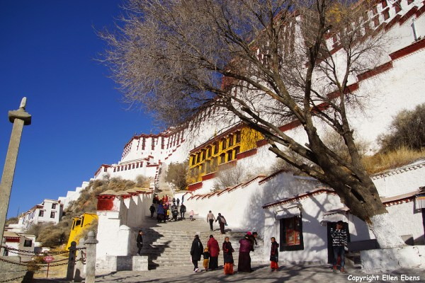 Lhasa, the Potala Palace. It was the winter residence of the Dalai Lamas.