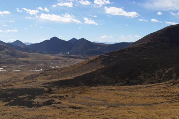 Driving into Eastern Tibet. View from the Pa La pass (5,031meters)